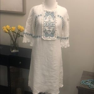 Embroidered Sophia Max dress.  NWT
